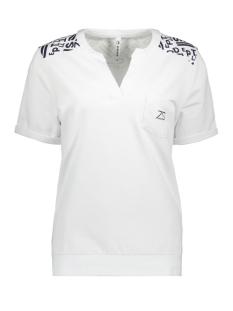 Zoso T-shirt SASCHA PRINTED T-SHIRT 192 WHITE/NAVY