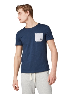 t shirt met borstzak 1010862xx12 tom tailor t-shirt 10915