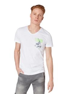 t shirt met print op de borst 1010860xx12 tom tailor t-shirt 20000
