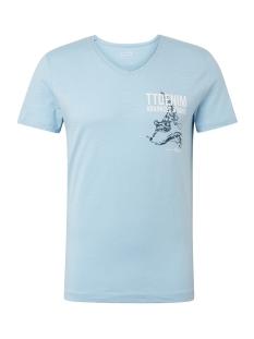 t shirt met print op de borst 1010860xx12 tom tailor t-shirt 17750