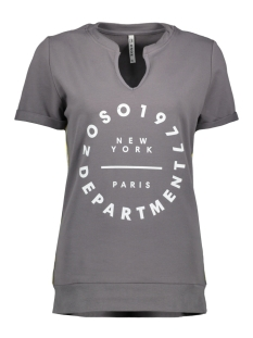 Zoso T-shirt SUSAN SWEAT T-SHIRT 192 GREY/WHITE