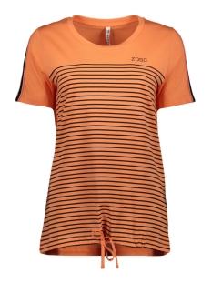 Zoso T-shirt HELGA T-SHIRT 192 SALMON/NAVY