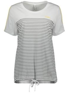 Zoso T-shirt HELGA T-SHIRT 192 WHITE/YELLOW