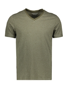 jormargo tee ss v neck 12160835 jack & jones t-shirt dusty olive/slim
