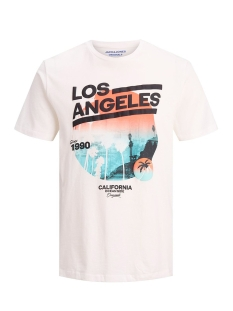Jack & Jones T-shirt JOROCEANSIDE TEE CREW NECK 12156023 Cloud Dancer/SLIM