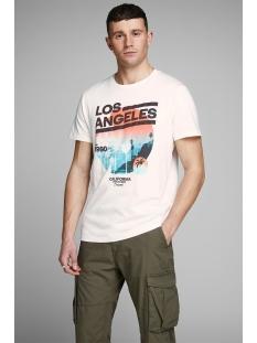 joroceanside tee crew neck 12156023 jack & jones t-shirt cloud dancer/slim