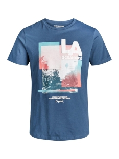 Jack & Jones T-shirt JOROCEANSIDE TEE CREW NECK 12156023 Ensign Blue