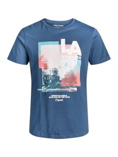 joroceanside tee crew neck 12156023 jack & jones t-shirt ensign blue