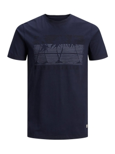 Jack & Jones T-shirt JPRJOHANNES BLU. TEE SS CREW NECK 12154920 Navy Blazer/SLIM FIT