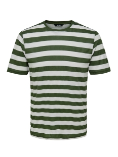 Only & Sons T-shirt onsCOLE STRIPED SS TEE VD 22013579 Olive Night/WHITE