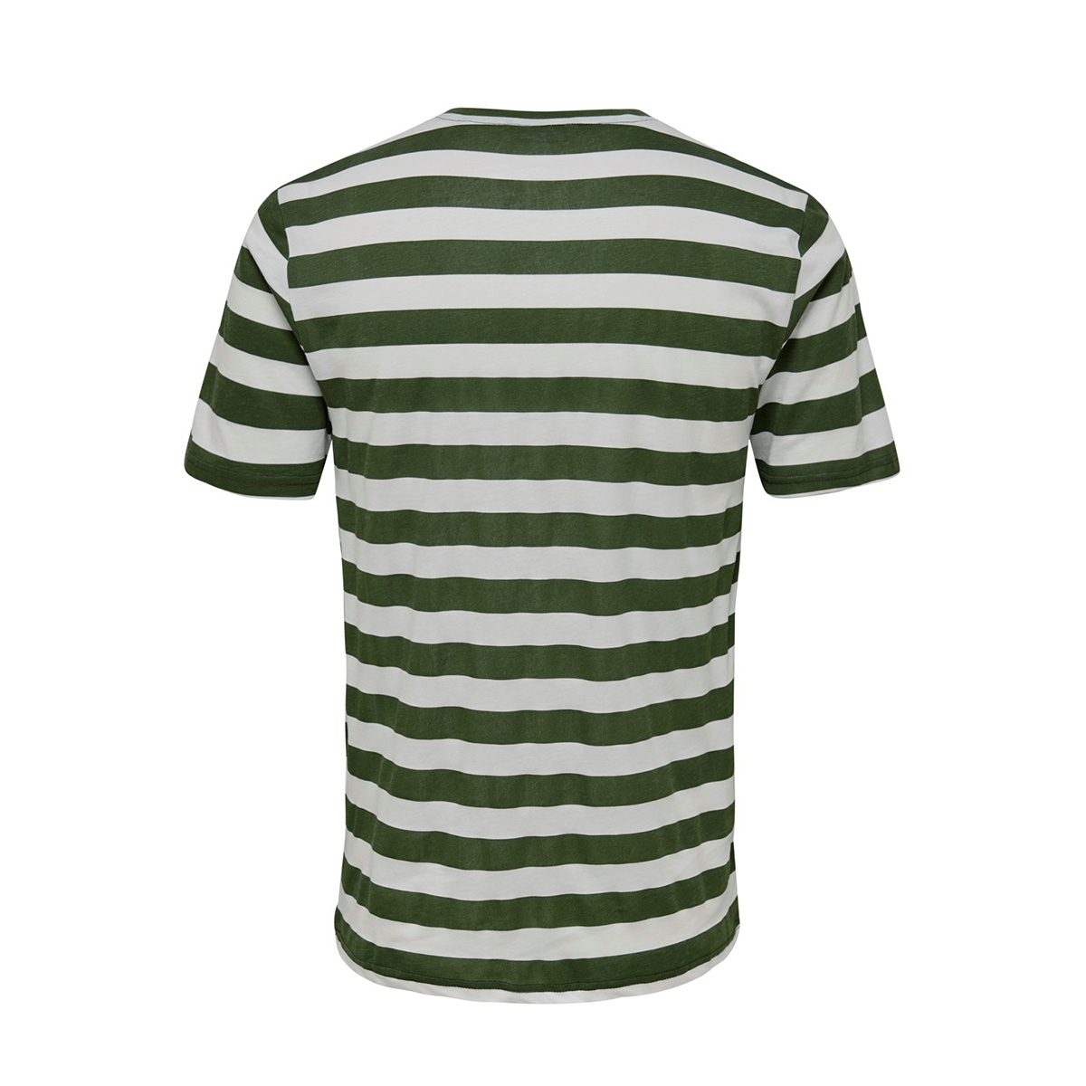 onscole striped ss tee vd 22013579 only & sons t-shirt olive night/white