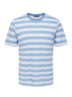 Only & Sons T-shirt onsCOLE STRIPED SS TEE VD 22013579 Blue Bell/WHITE