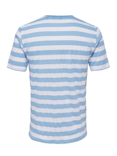 onscole striped ss tee vd 22013579 only & sons t-shirt blue bell/white