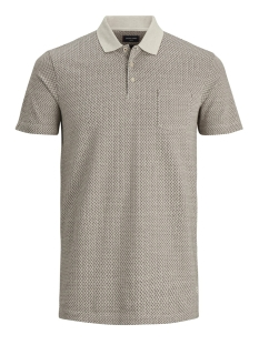 jprbrody blu. polo ss 12154918 jack & jones polo oatmeal/slim fit