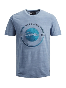 Jack & Jones T-shirt JCOBAY TEE SS CREW NECK 12155198 Victoria Blue/SLIM