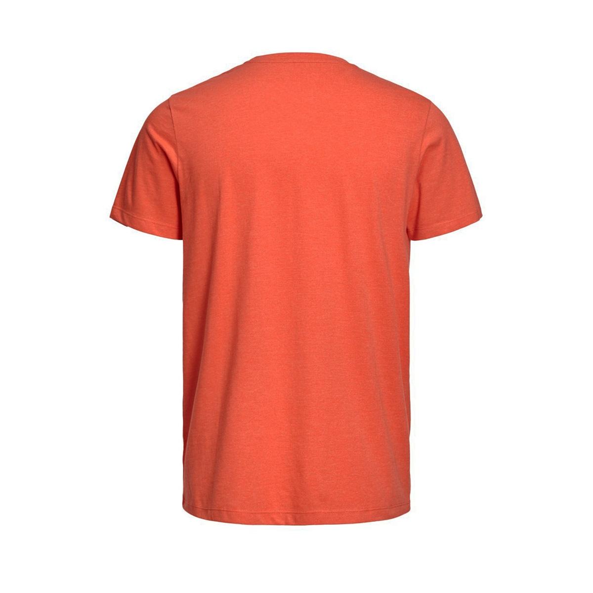 jcobooster tee ss crew neck june 19 12155989 jack & jones t-shirt cherry tomato