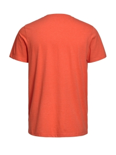 jcobooster tee ss crew neck june 19 12155989 jack & jones t-shirt cherry tomato