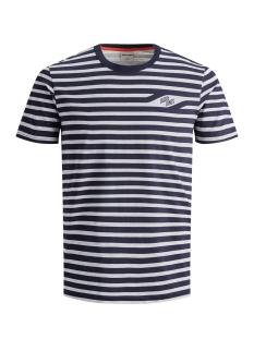 Jack & Jones T-shirt JCOCRAIG TEE SS CREW NECK 12155072 Maritime Blue/SLIM