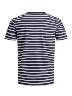 jcocraig tee ss crew neck 12155072 jack & jones t-shirt maritime blue/slim