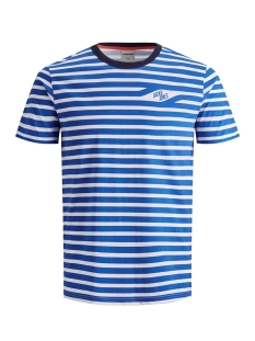 Jack & Jones T-shirt JCOCRAIG TEE SS CREW NECK 12155072 Victoria Blue/SLIM