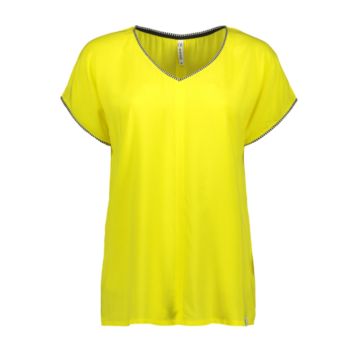 esther shirt with piping 193 zoso t-shirt yellow