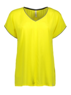 Zoso T-shirt ESTHER SHIRT WITH PIPING 193 YELLOW