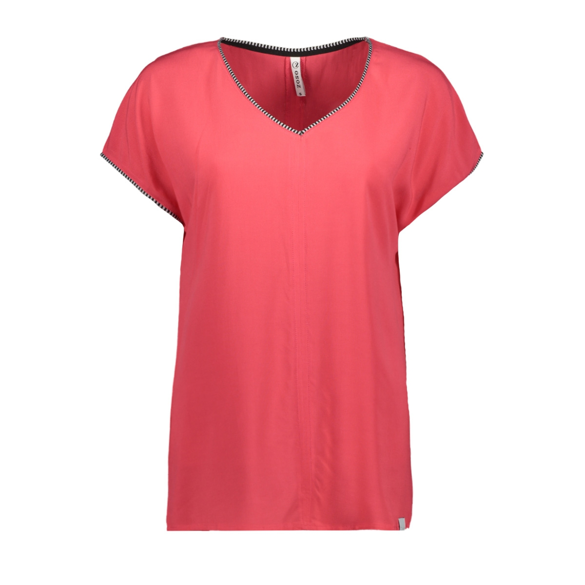 esther shirt with piping 193 zoso t-shirt red