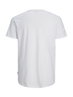 jcocodes tee ss crew neck 12155182 jack & jones t-shirt white/slim