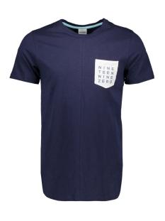 jcocodes tee ss crew neck 12155182 jack & jones t-shirt maritime blue/slim