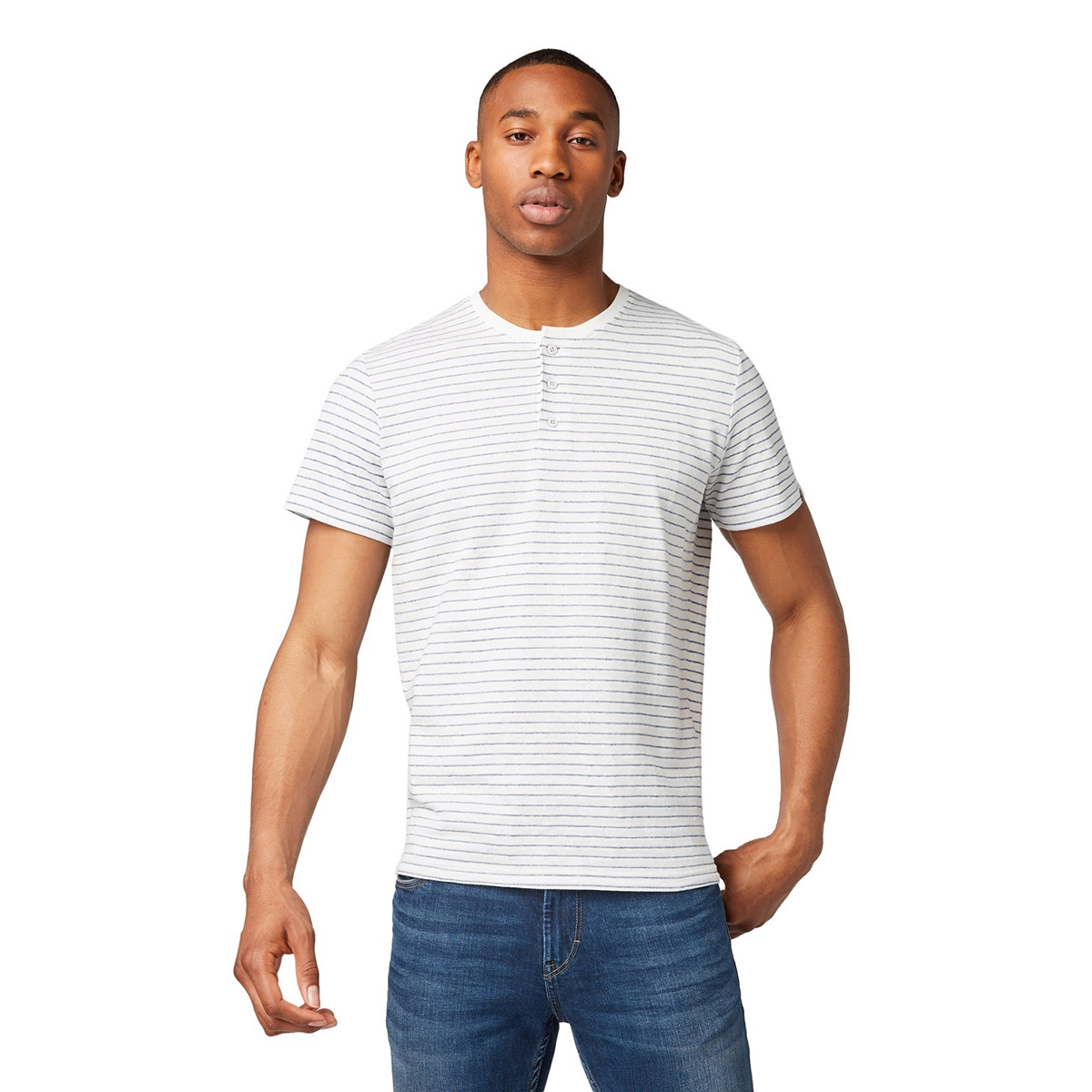 gestreept henley shirt 1011502xx10 tom tailor t-shirt 17999