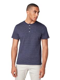 gestreept henley shirt 1011502xx10 tom tailor t-shirt 17996
