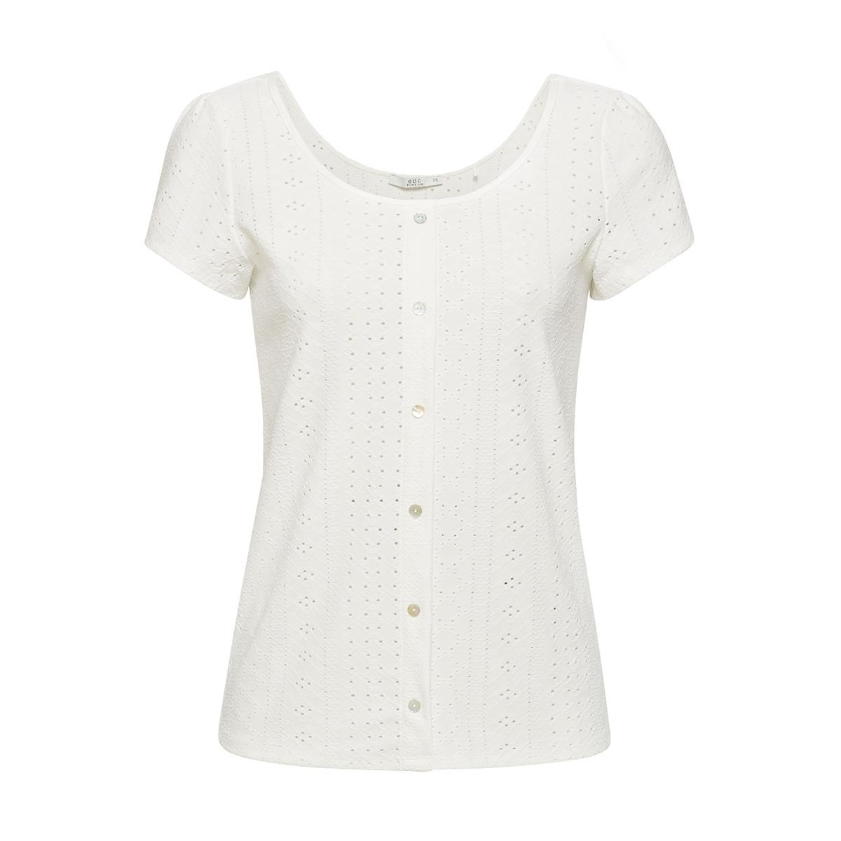 shirt met opengewerkt motief 059cc1k005 edc t-shirt c110