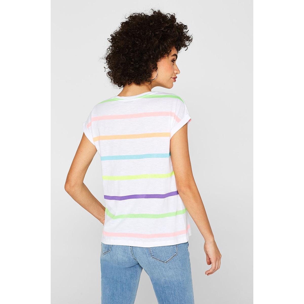 t shirt met strepen in neon look 069cc1k065 edc t-shirt c110