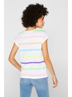 t shirt met strepen in neon look 069cc1k065 edc t-shirt c110