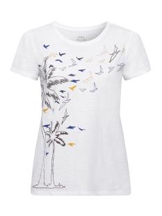 EDC T-shirt SHIRT VAN SLUBGAREN MET PRINT 069CC1K002 C100