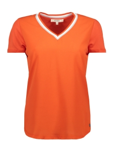 Garcia T-shirt T SHIRT MET V HALS GE900502 1220 Red Orange