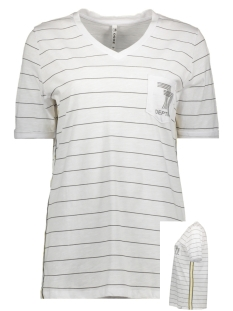 Zoso T-shirt SABINE SRTIPED T SHIRT 192 WHITE/GREY