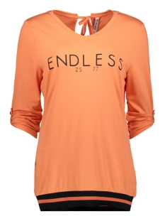 Zoso T-shirt ASHLEY V NECK TOP 192 SALMON/NAVY