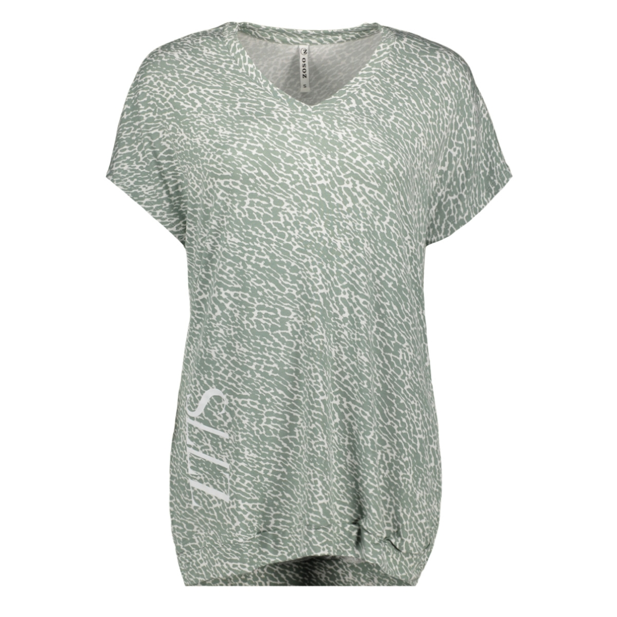 alliston printed t shirt 192 zoso t-shirt sage/white