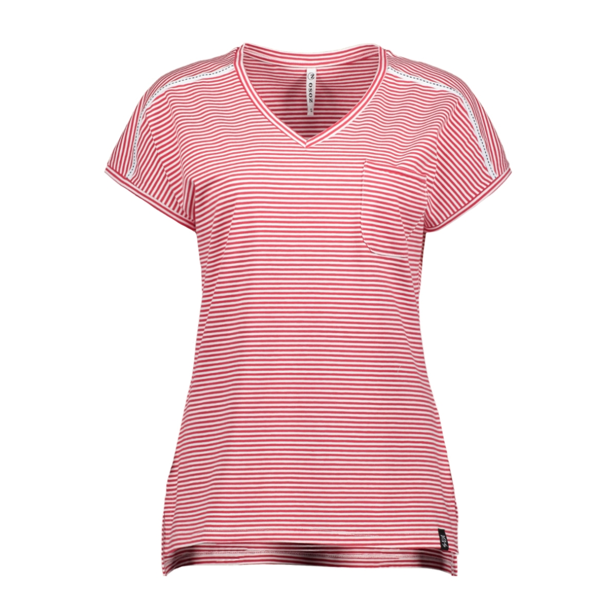 aster t shirt 193 zoso t-shirt red/white