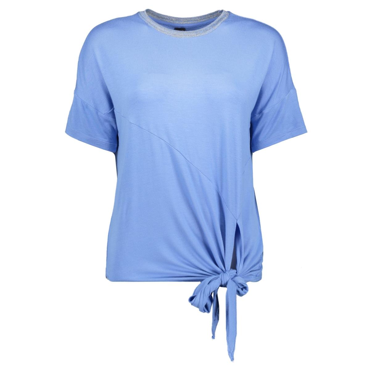 vmvanessa ss glitter tie top jrs lc 10215444 vero moda t-shirt granada sky