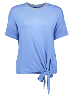 Vero Moda T-shirt VMVANESSA SS GLITTER TIE TOP JRS LC 10215444 Granada Sky