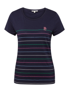 Tom Tailor T-shirt T SHIRT MET STREEP 1012754XX71 18863