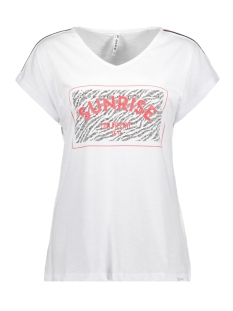 Zoso T-shirt SACHA PRINTED T SHIRT 193 WHITE/RED