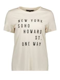 vmyork francis ss top box ga jrs 10215681 vero moda t-shirt birch/text front