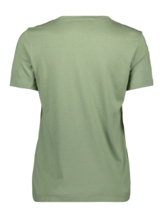 vmyork francis ss top box ga jrs 10215681 vero moda t-shirt hedge green/text front
