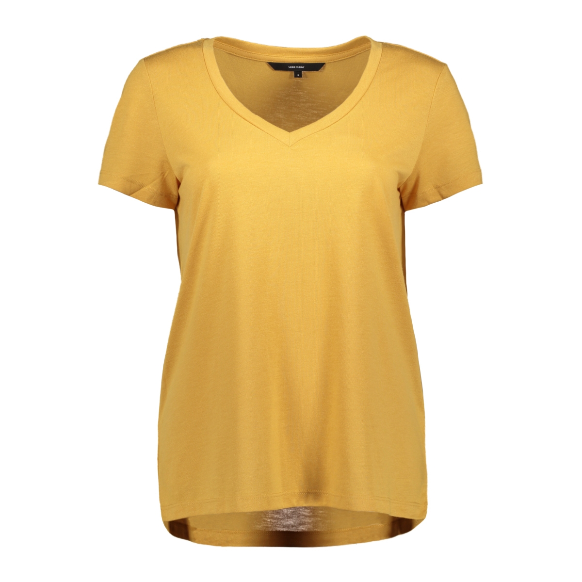 vmspicy v-neck ss top color 10191891 vero moda t-shirt amber gold