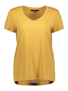 Vero Moda T-shirt VMSPICY V-NECK SS TOP COLOR 10191891 Amber Gold