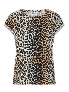 Vero Moda T-shirt VMAVA PLAIN SS TOP MULTI AOP GA 10214302 Oatmeal/LEO