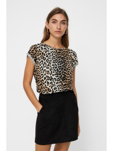 vmava plain ss top multi aop ga 10214302 vero moda t-shirt oatmeal/leo
